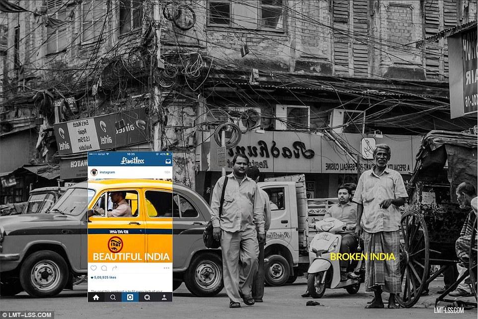 #BeautifulIndia vs #BrokenIndia Photo Editing