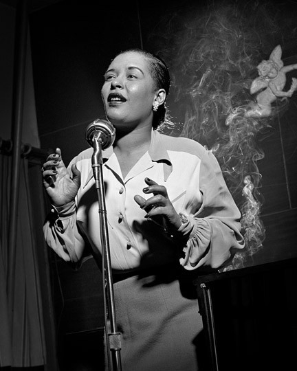 Billy Holiday in New York 1949, Jazz Photography by Herman Leonard