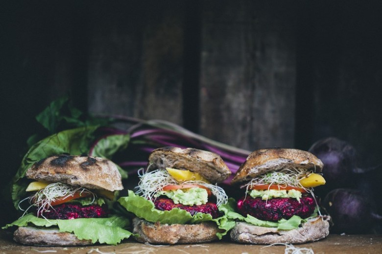 healthy veggie burger photos