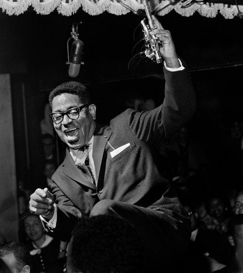 Dizzy Gillespie in New York 1955, Jazz Photography by Herman Leonard