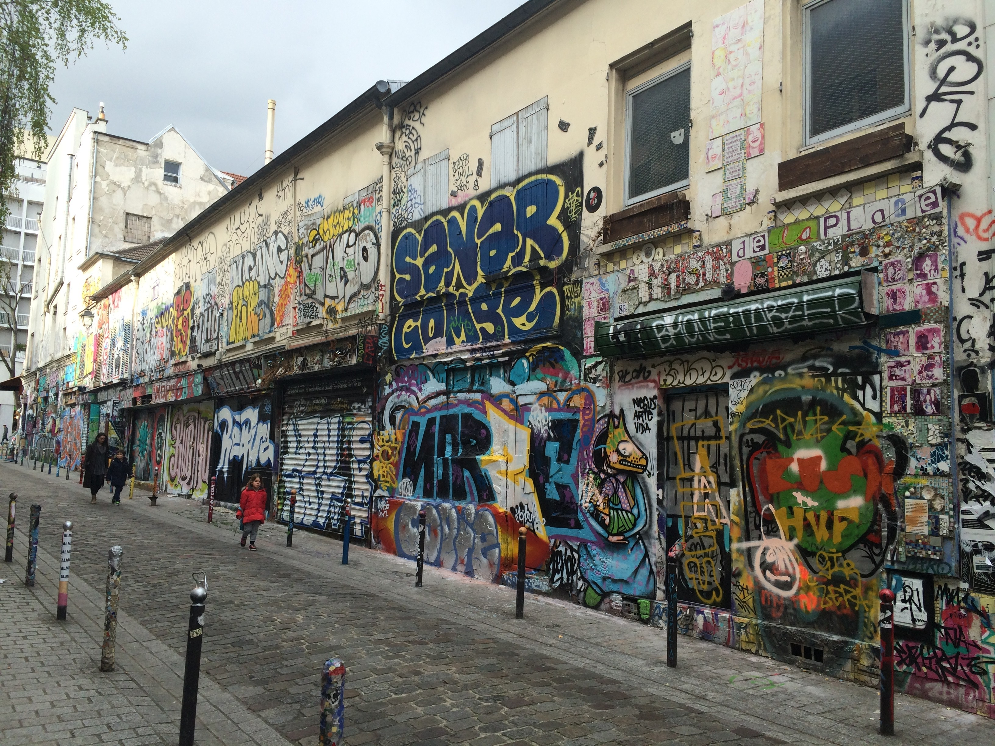 Street Art and Graffiti on Rue des Noyés, Paris