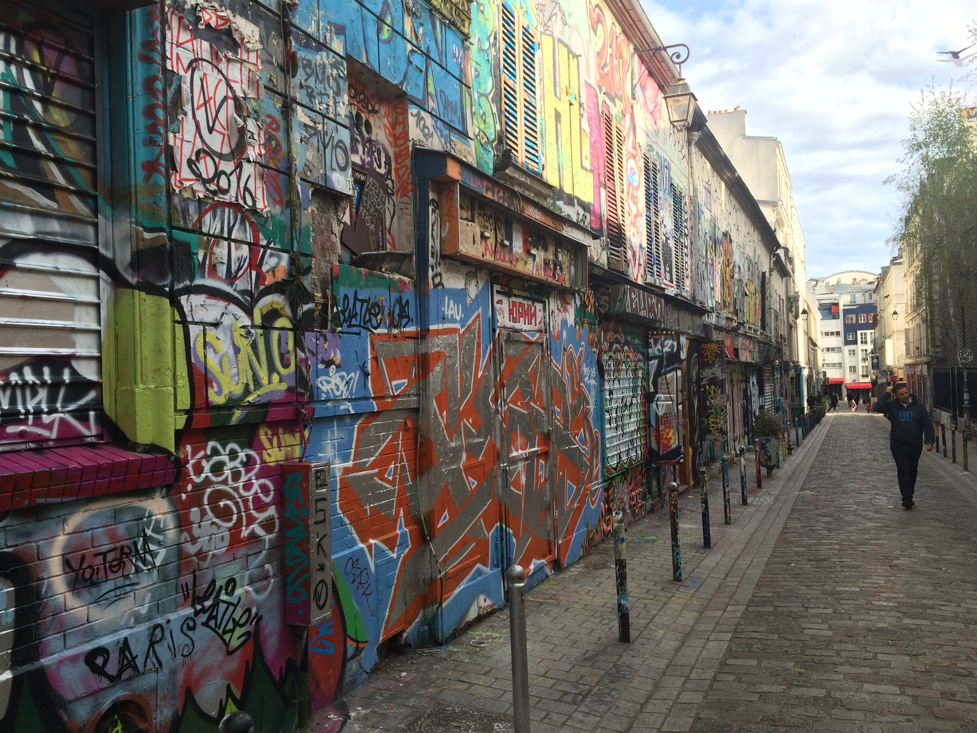 Street Art and Graffiti on Rue des Noyés in Paris