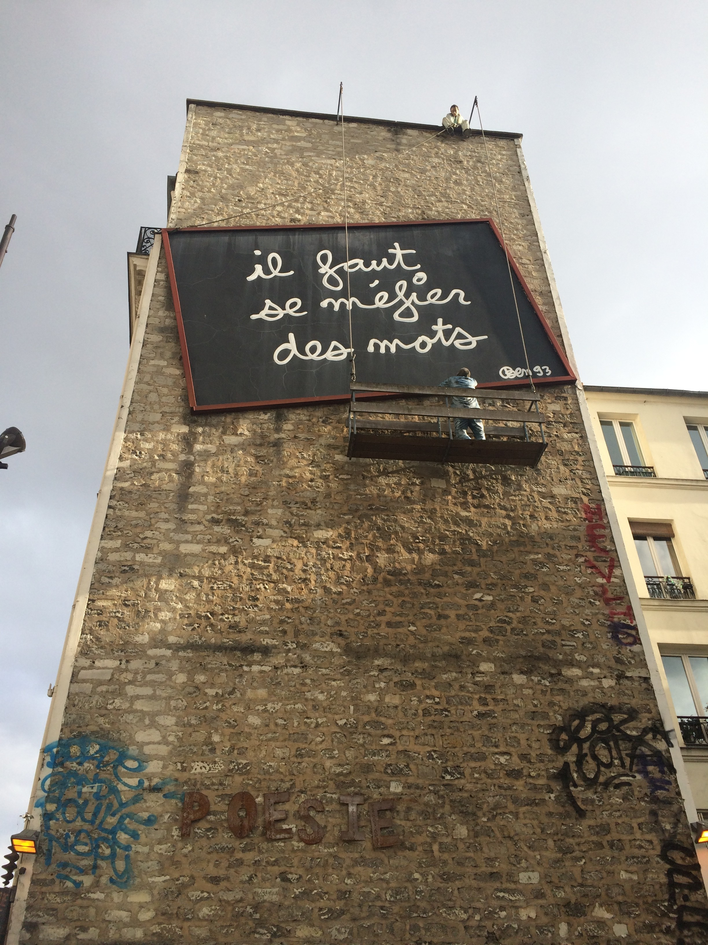 Ben 93 - Beware of Words in Belleville, Paris