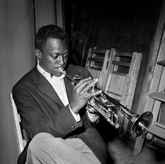 Miles Davis at Birdland Jazz Club 1949 by Herman Leonard