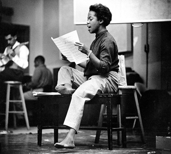 Sarah Vaughn in New York 1950, Jazz Photography by Herman Leonard