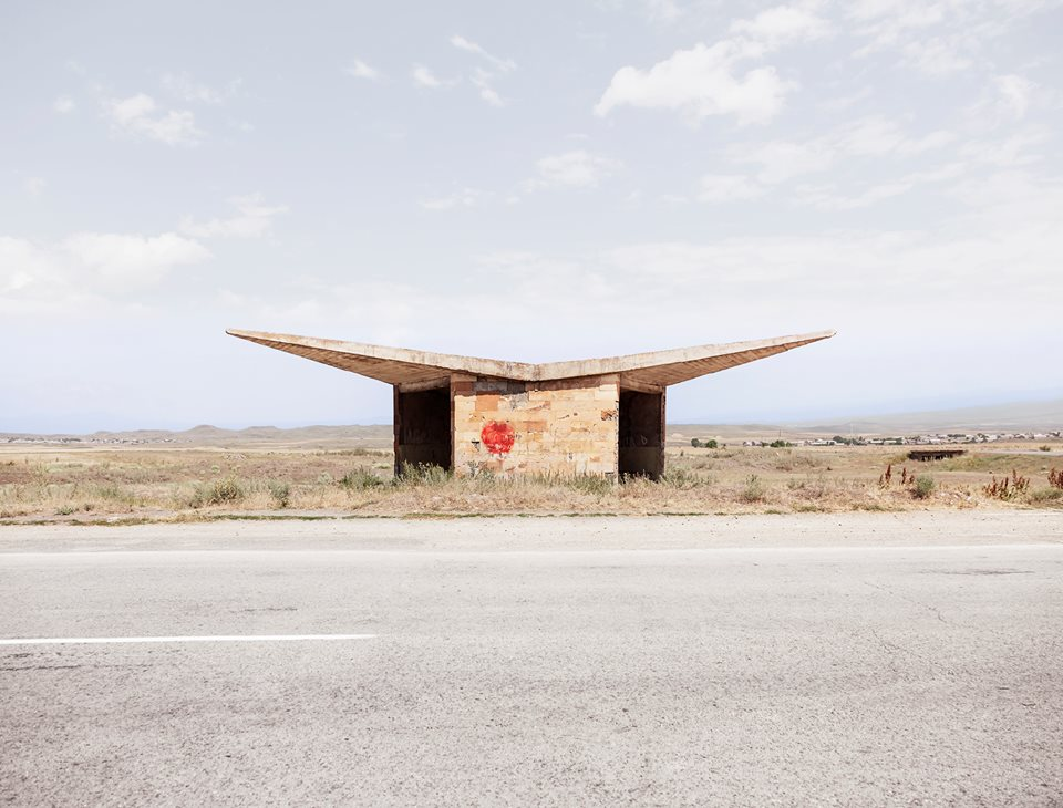 Soviet bus stop photos by Christopher Herwig