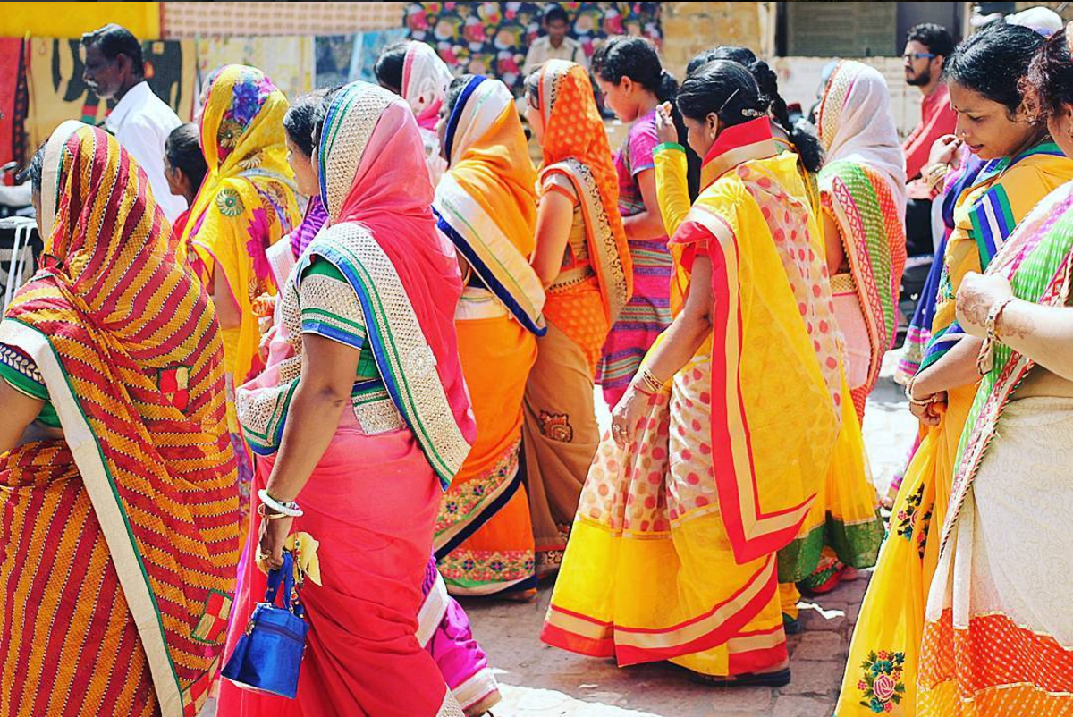 Colorful saris on the streets of Jaisalmer