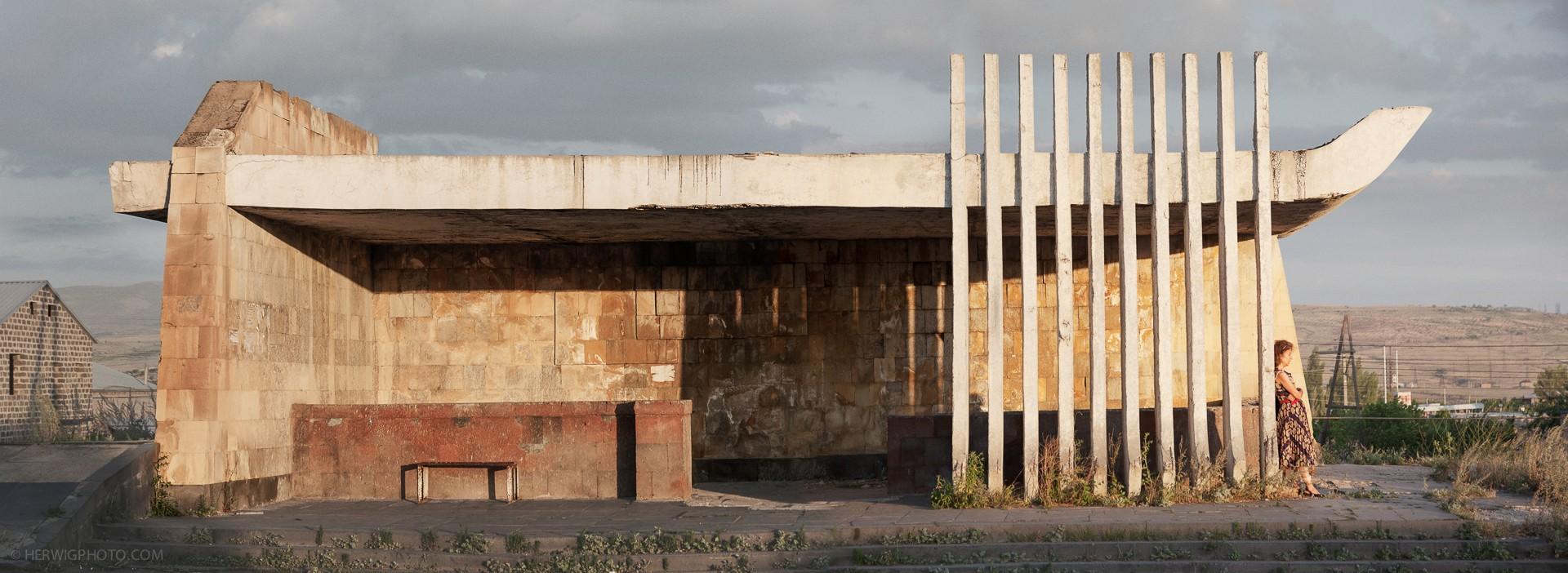 Soviet bus stop in Armenia