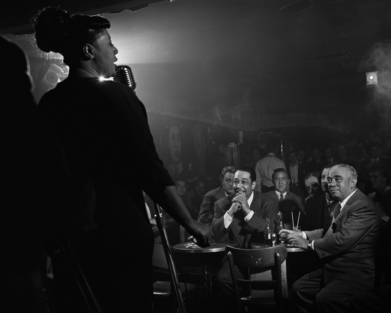 Ella Fitzgerald, Duke Ellington and Benny Goodman, New York City, 1948 by Herman Leonard