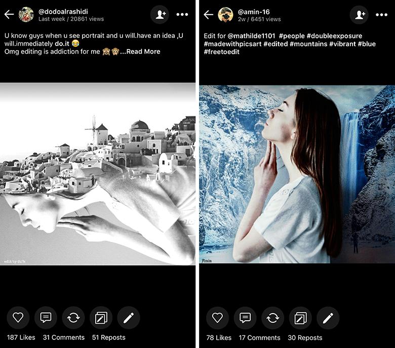 FreeToEdit PicsArt Remix Images