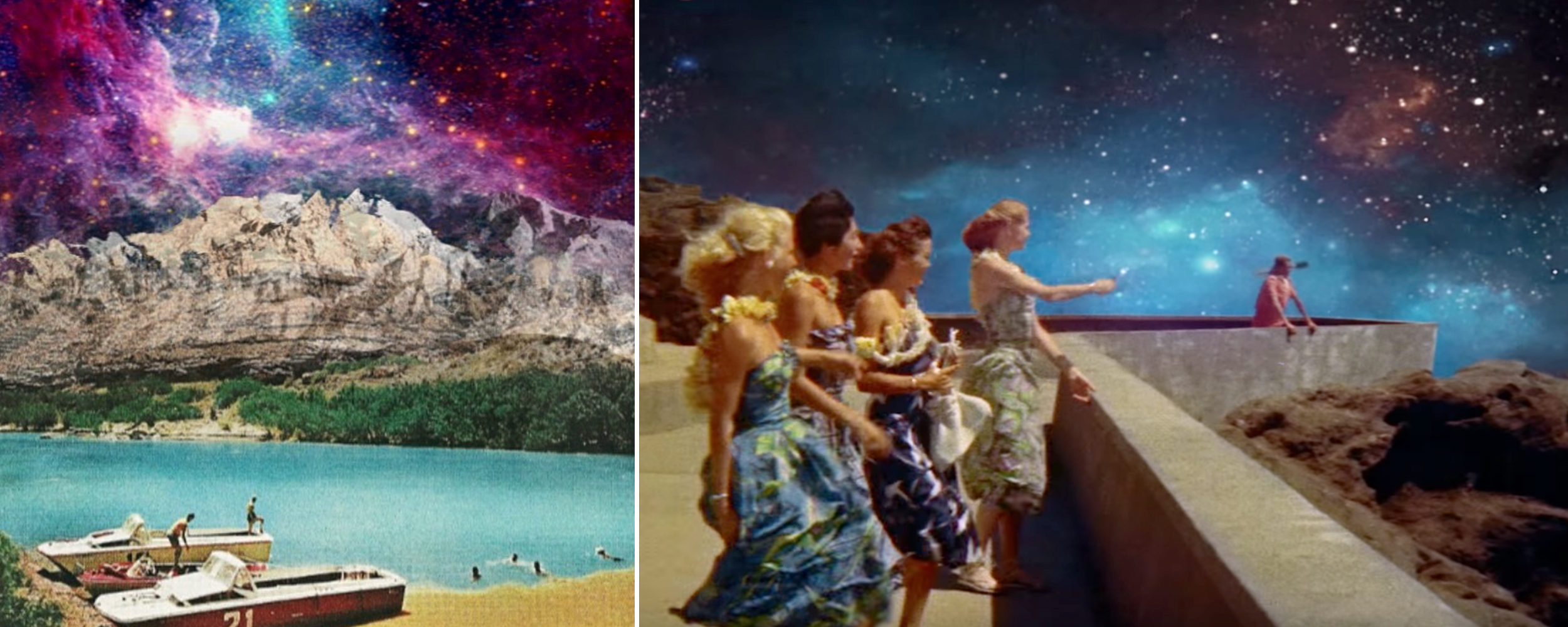 Left by @artoflol on PicsArt; Right from Coldplay's Up & Up music video