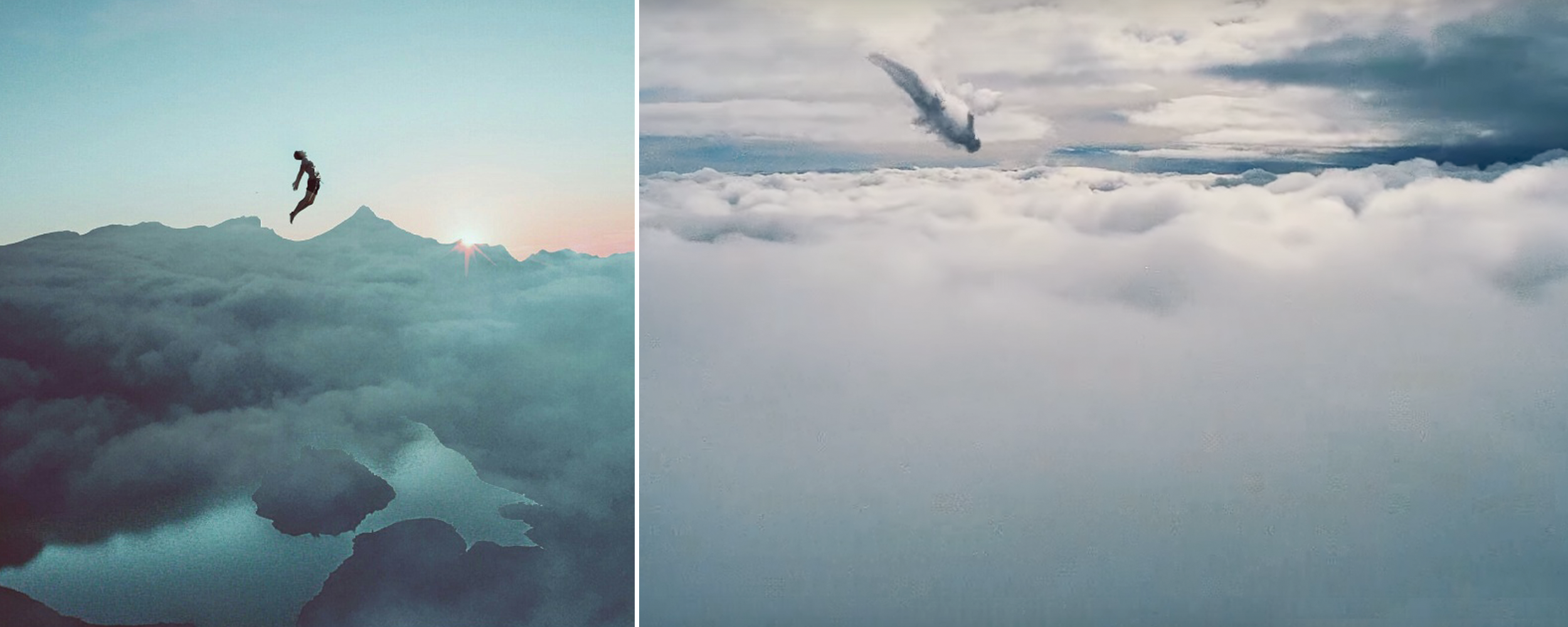 Left by @bzein on PicsArt; Right from Coldplay's Up & Up music video