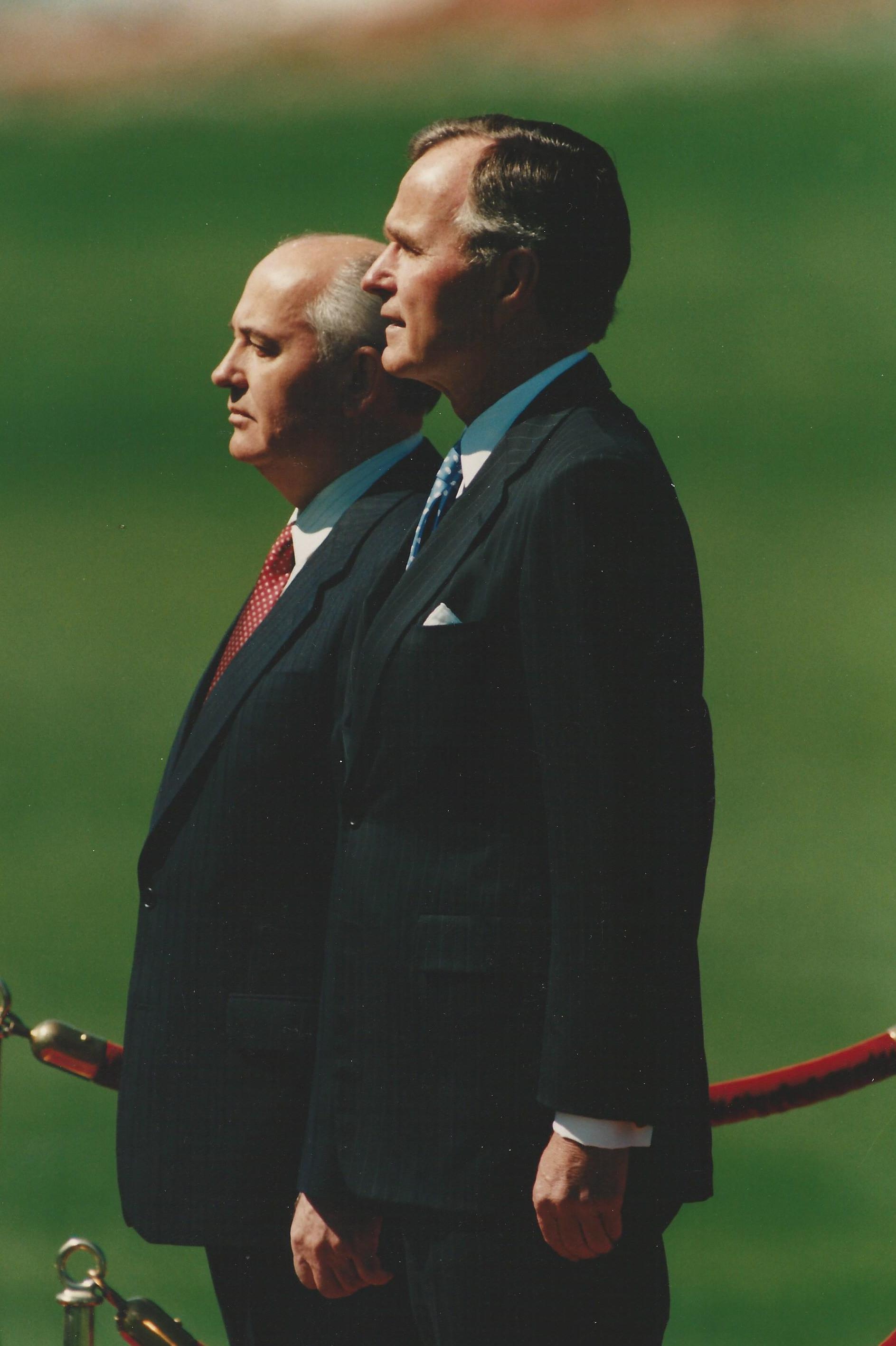 President Bush meets Soviet Leader Mikhail Gorbachev, Official White House Photography