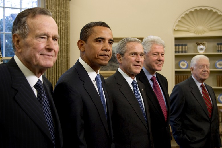 Five Living US Presidents in the Oval Office - Official White House Phootgraphy