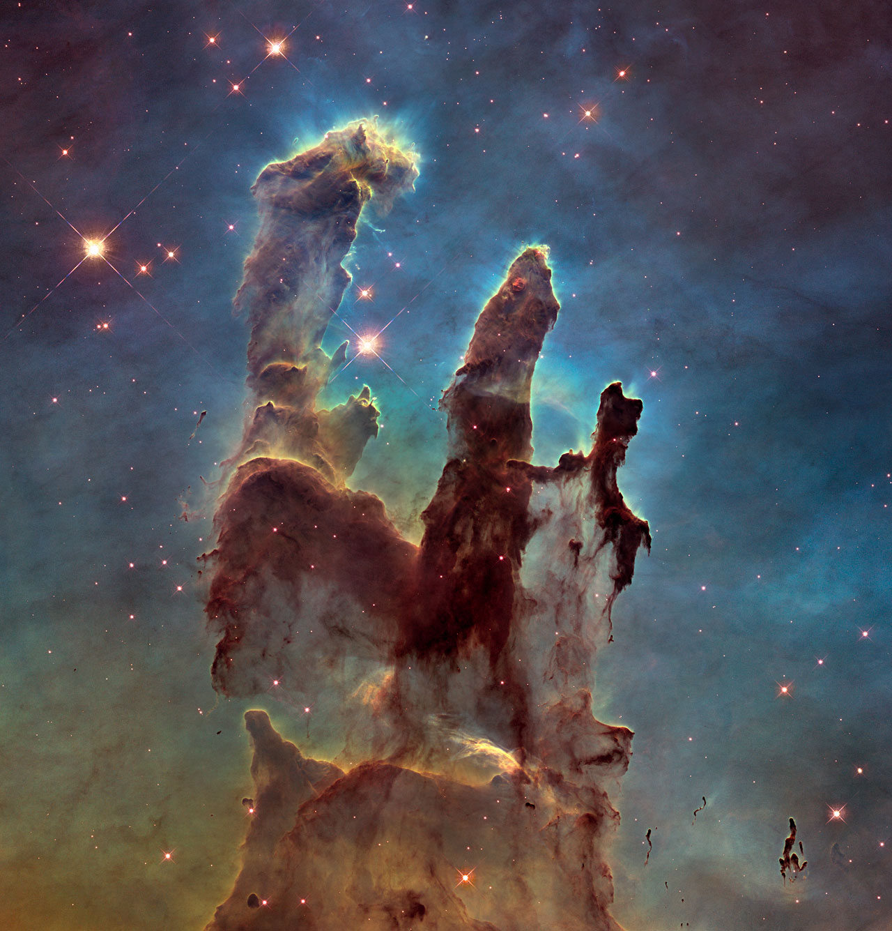The Eagle Nebula's Pillars of Creation - NASA Space Pictures