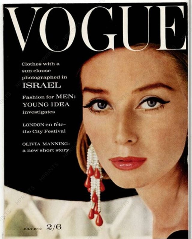 Tania Mallet Vogue Cover July 1962