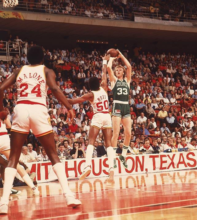 Larry Bird Celtic 1986 - 15 Legendary Photos in NBA Finals History