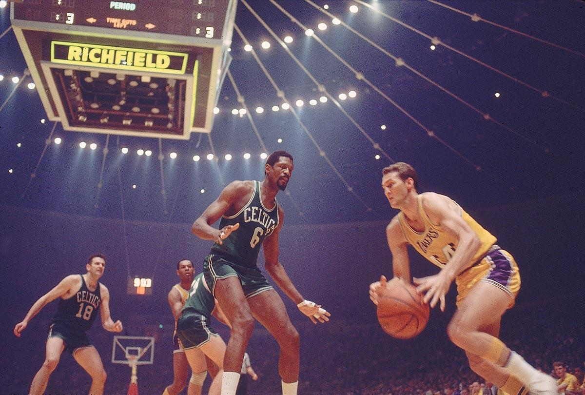 Bill Russell vs Jerry West 1968 - 15 Legendary Photos in NBA Finals History