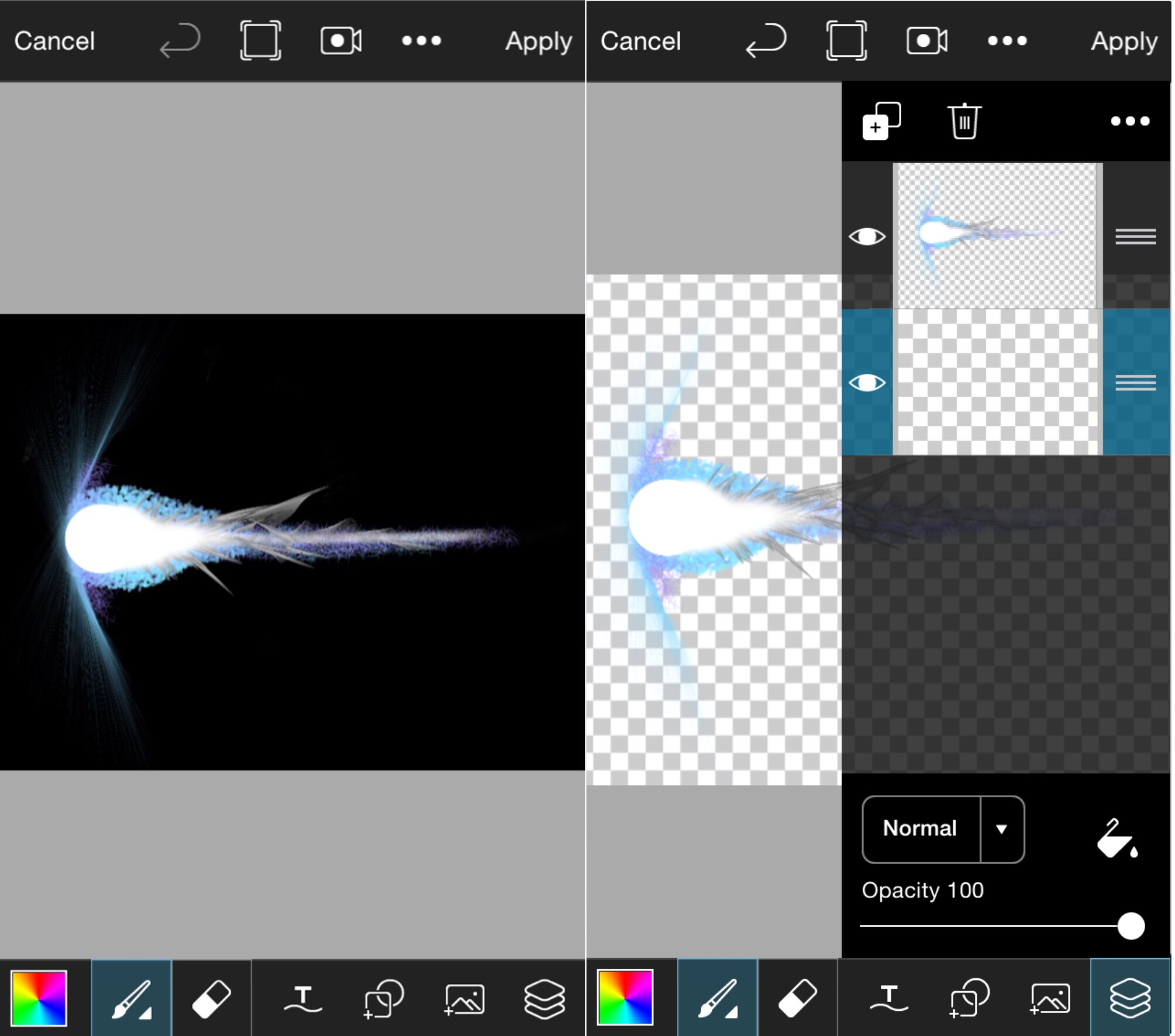 How to Draw a Meteor - PicsArt Photo Editor