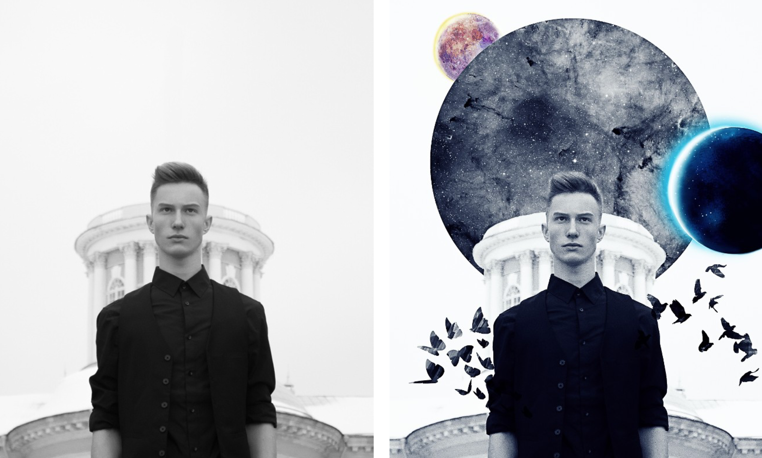 Moon Remix - Left by @antonday; Right by @abc.vis