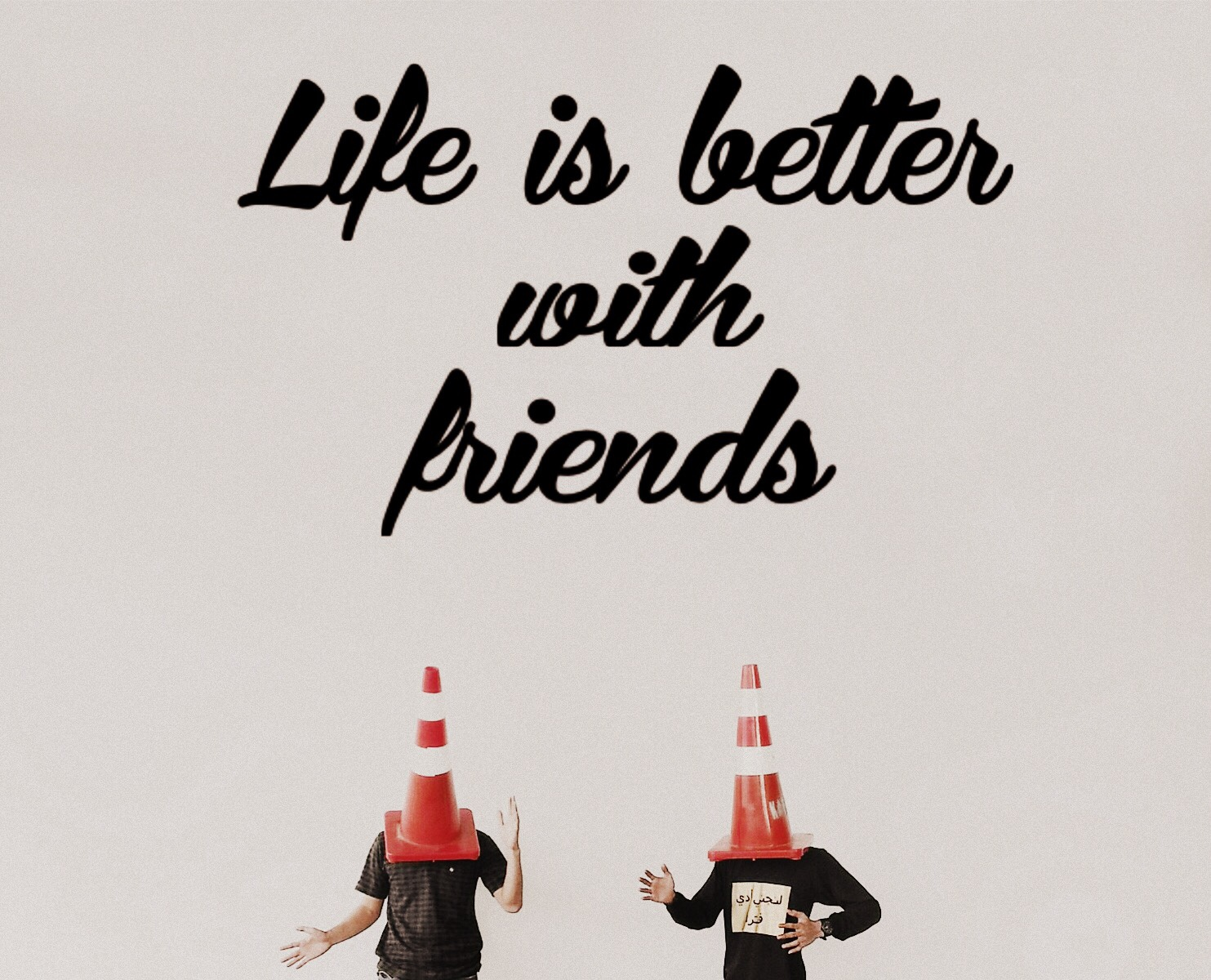 Life is Better with Friends #FreeToEdit image by @mtaqi_