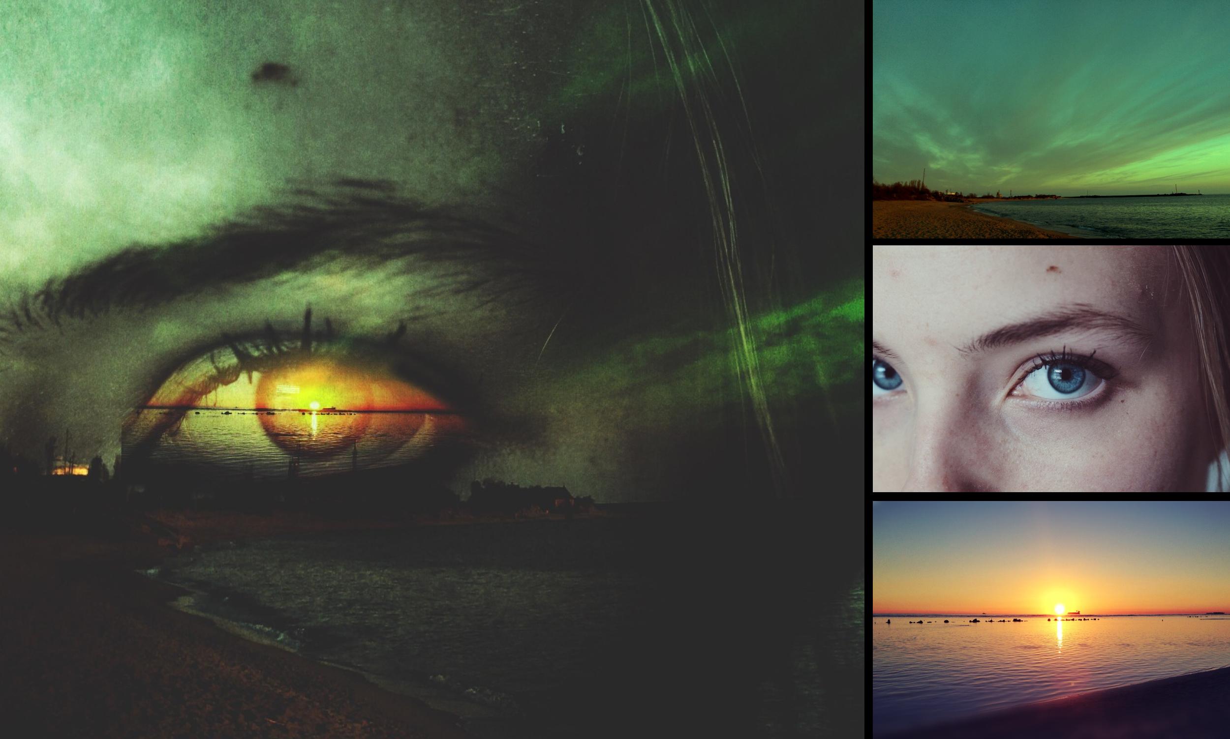 Green Eye Remixes - Left by @aracelifloresremuto; Right from top to bottom by @andriusorlovskij, @yoyoitsjess, @noelleka