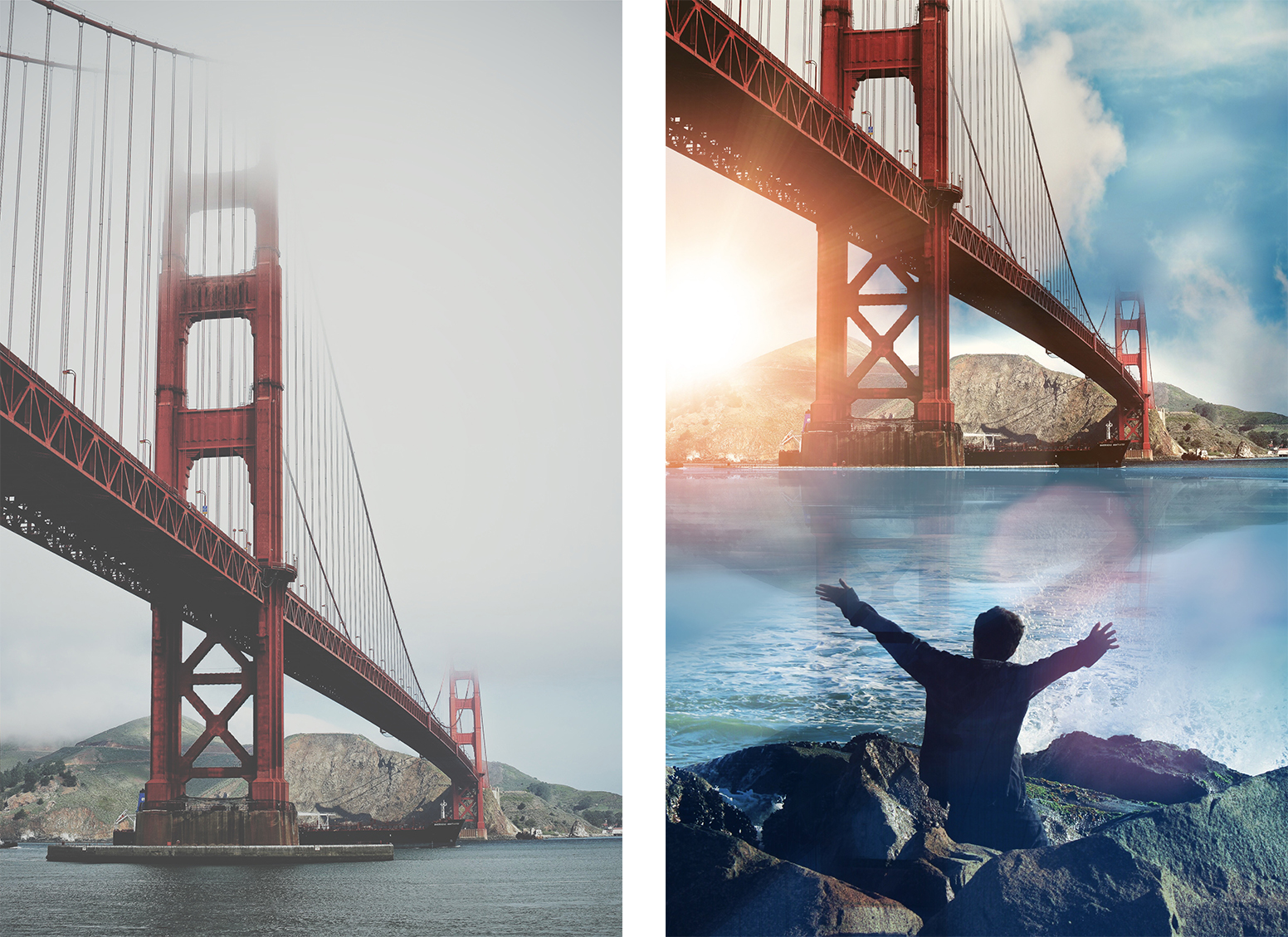 Golden Gate Bridge Photo Edit - PicsArt Mobile Photo Editor