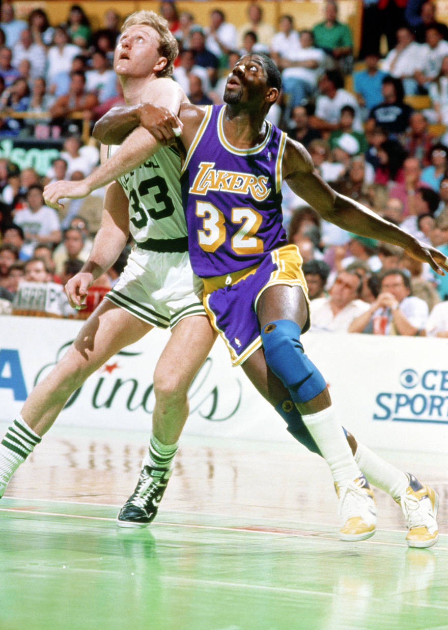 Larry Bird Magic Johnson 1987 - 15 Legendary Shots in NBA Finals History