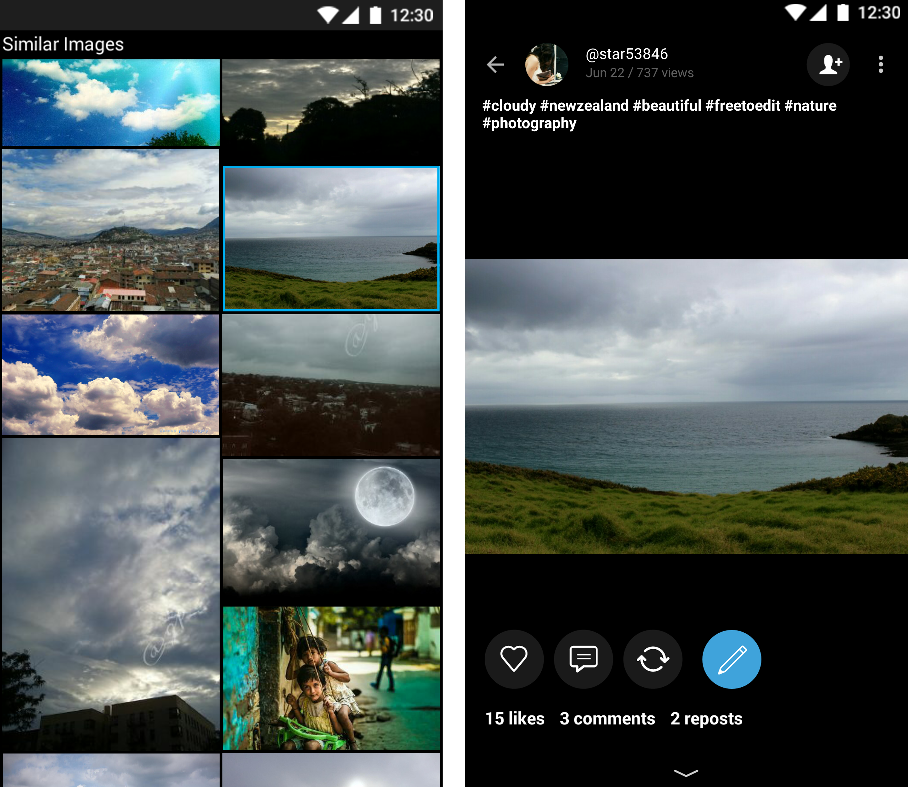 Find Similar Images with PicsArt Photo Gallery