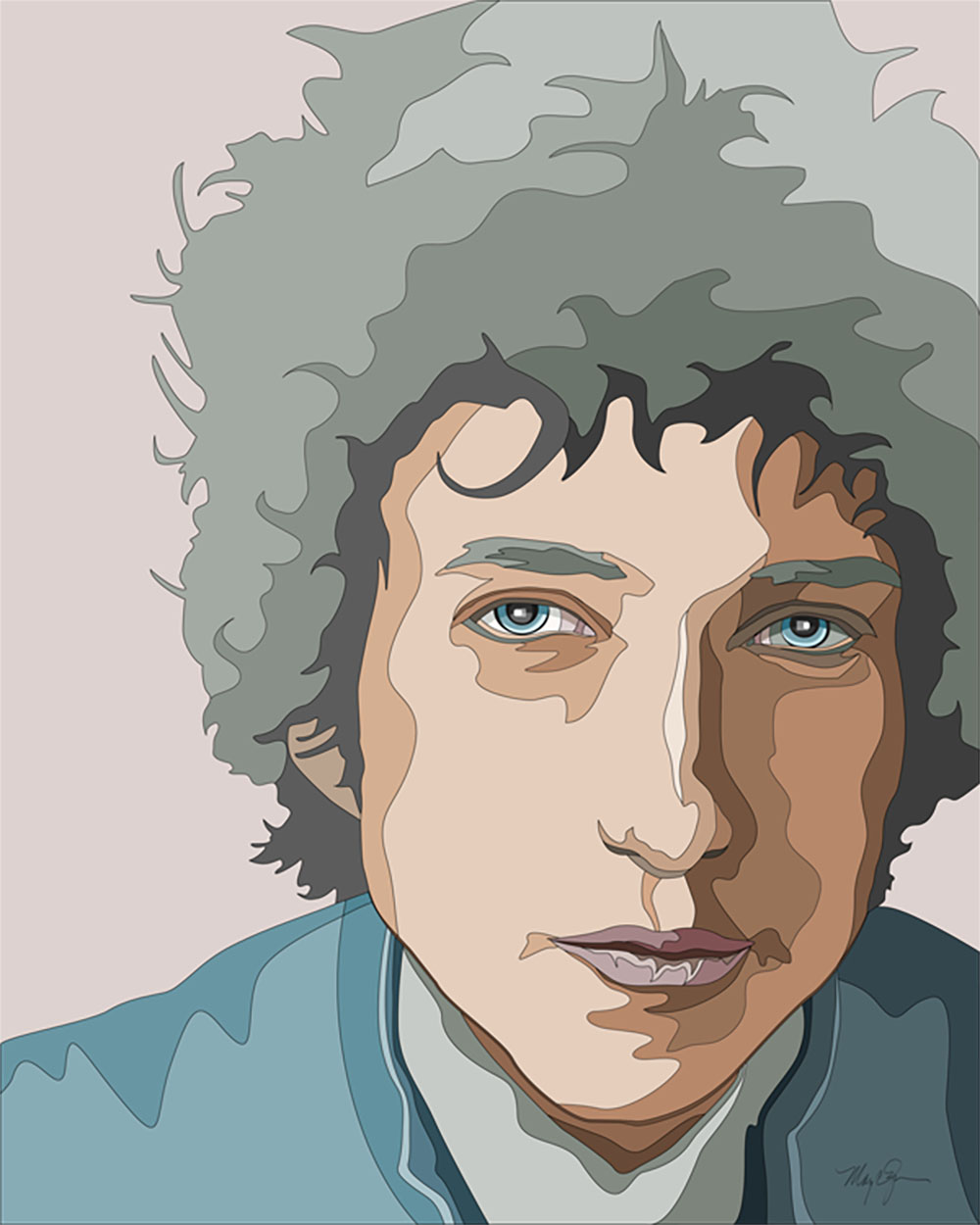 Bob Dylan illustration by Mary Zins