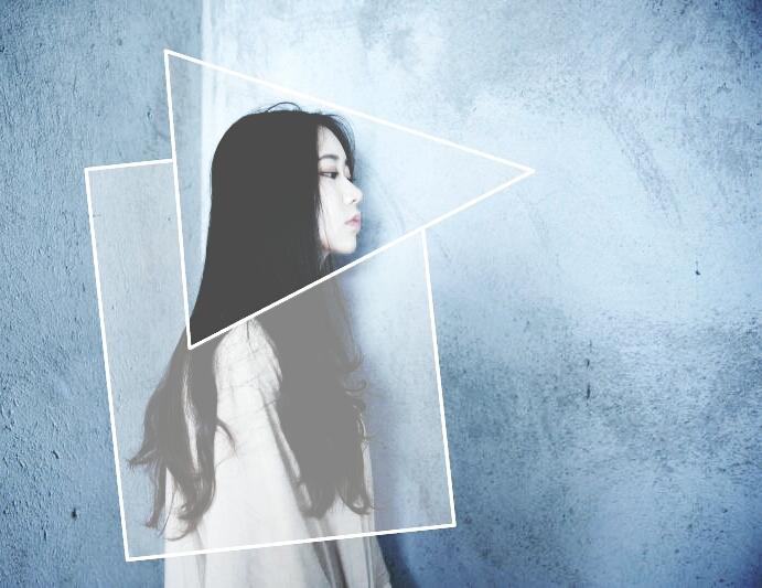 geometric edits made with picsart photo editor