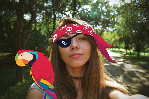 pirate stickers made with picsart