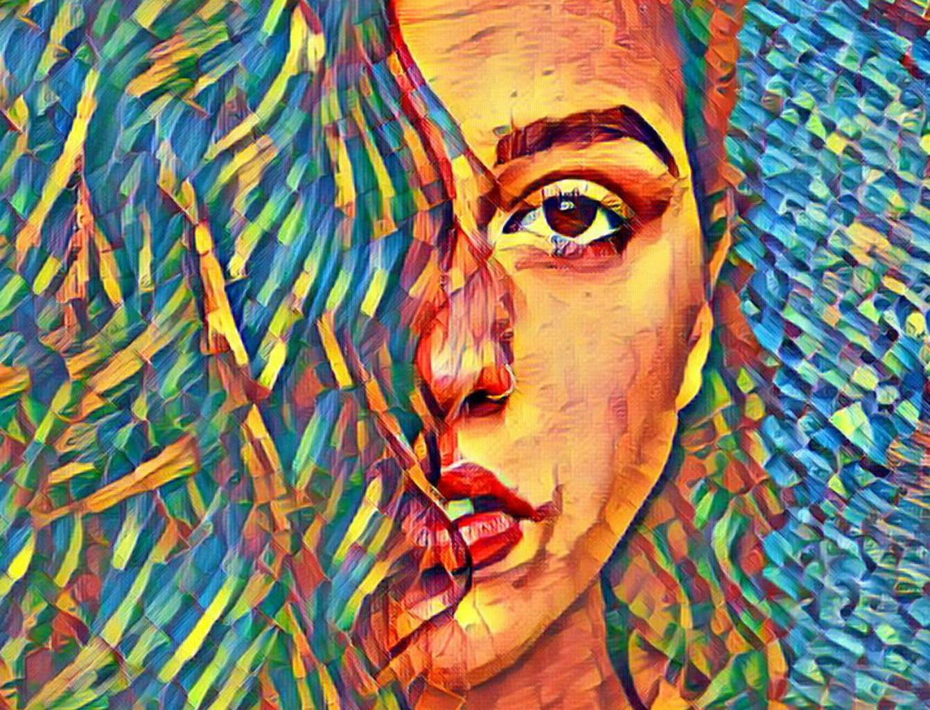 Photo of a girl edited with picsart magic tool