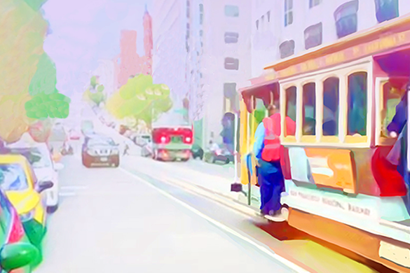 Tram on Yerevan street edited with magic video