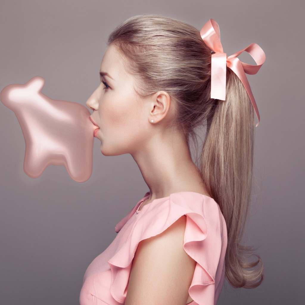 Gallery bubble gum blowing