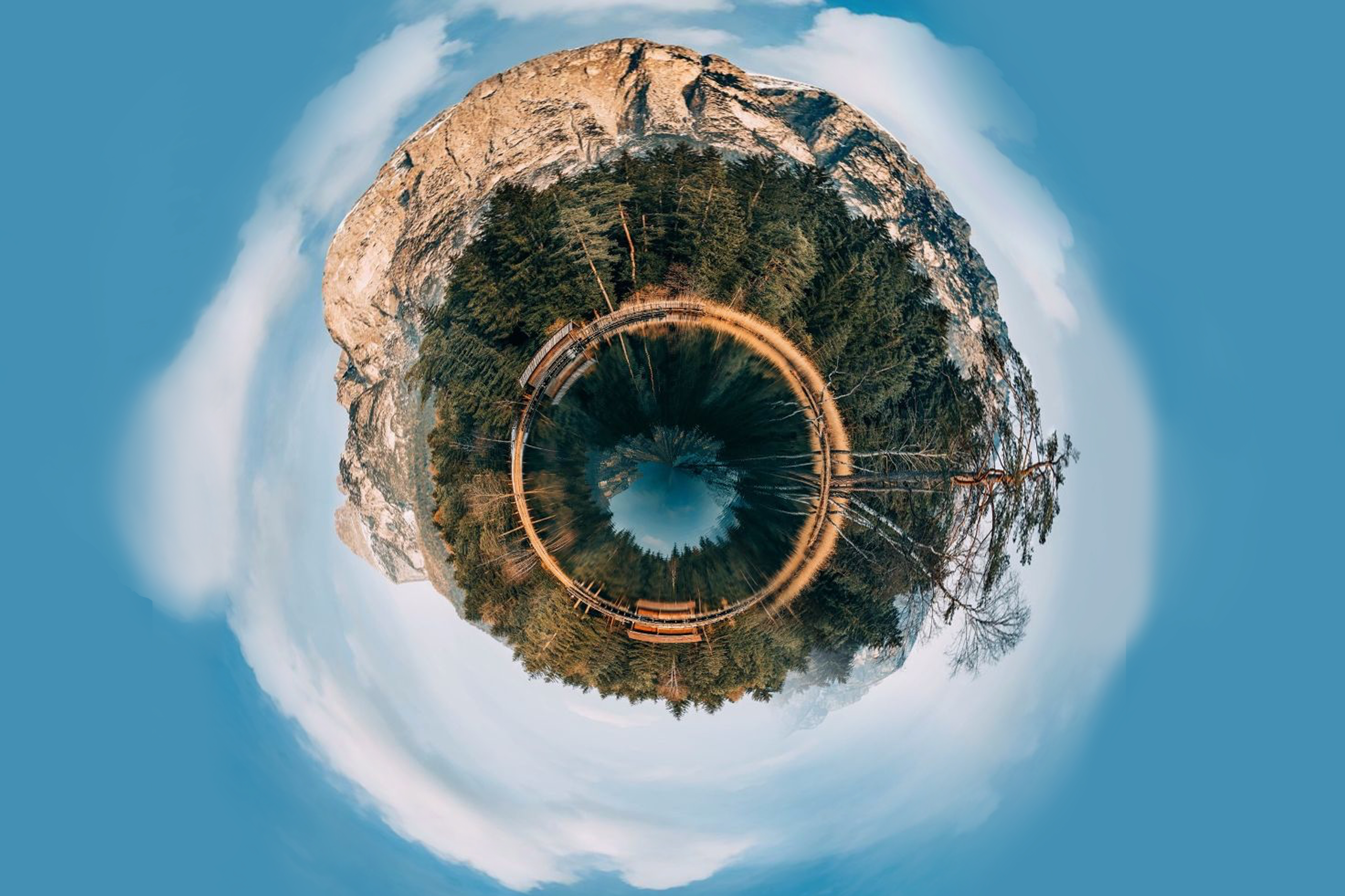 Photo made by tiny planet effect
