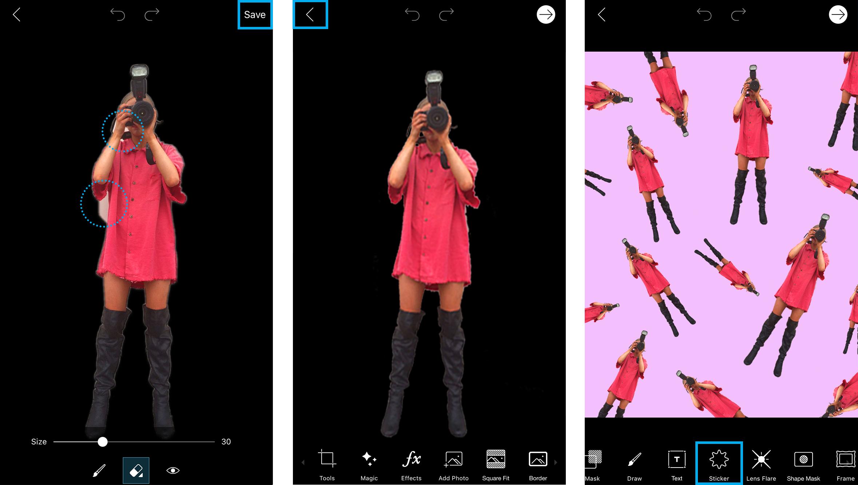 PicsArt's Cutout Photo Editing Tool 02