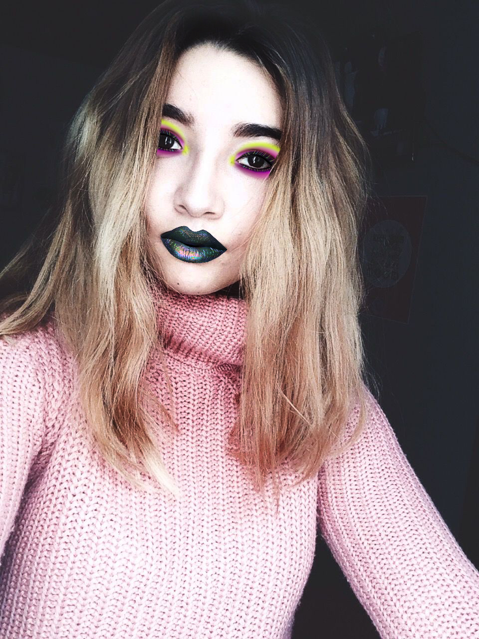 holographic makeup hack with picsart photo editor