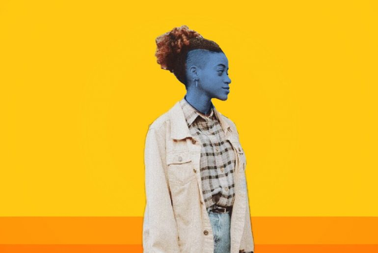 Blue-tinted portrait with bright background by Mahershala Ali