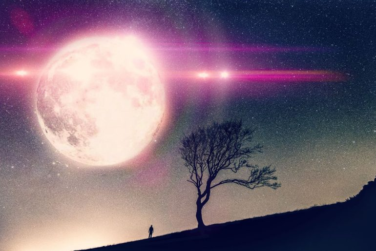 Surreal Photo Editing with super moon sticker