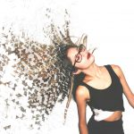 Dispersion Photo Effect on a photo of a young woman