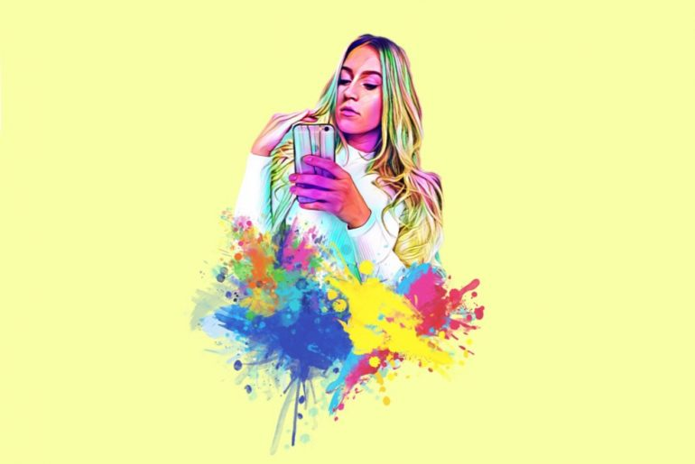 Make Your New Watercolor Splash Profile Picture with PicsArt