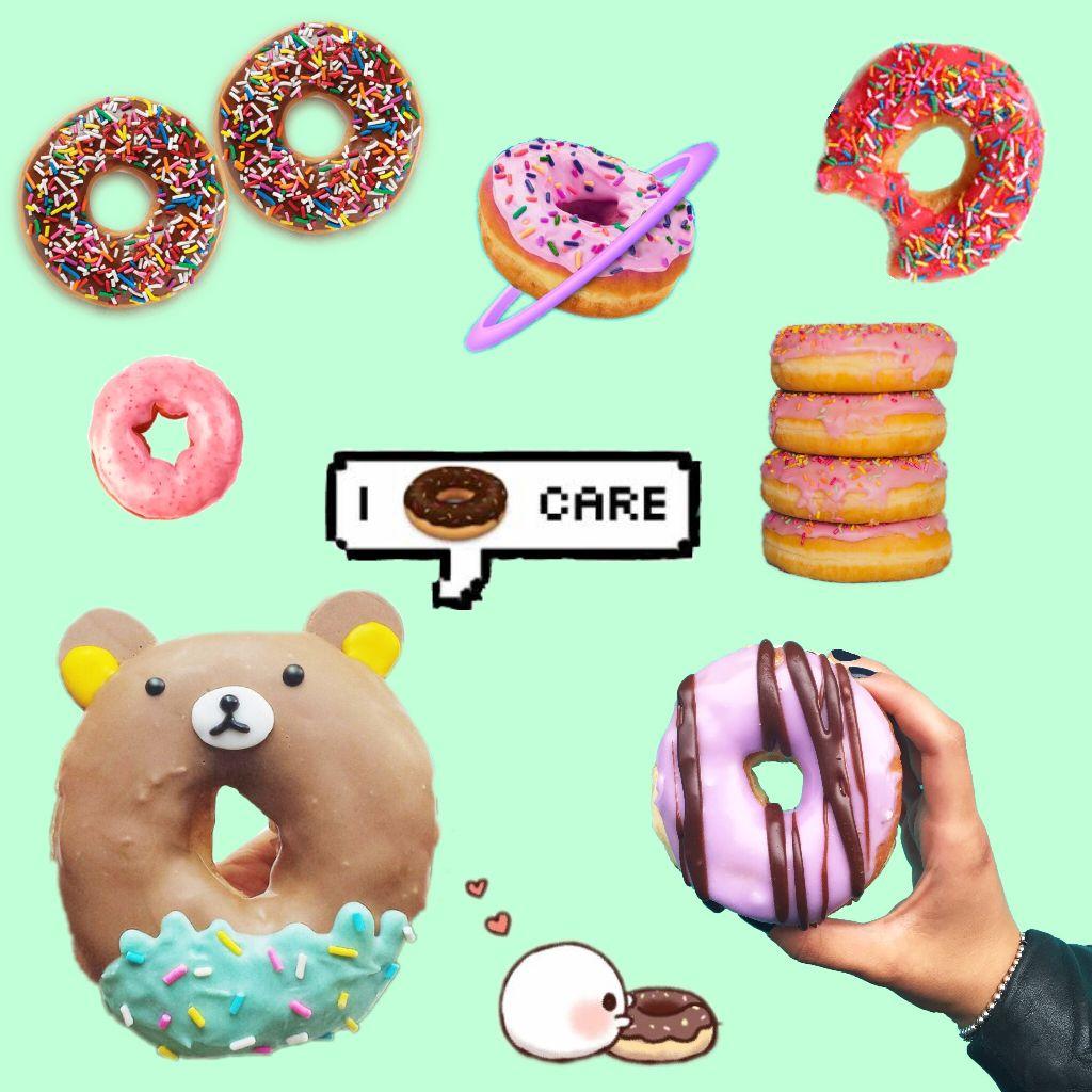 cute donut stickers on picsart