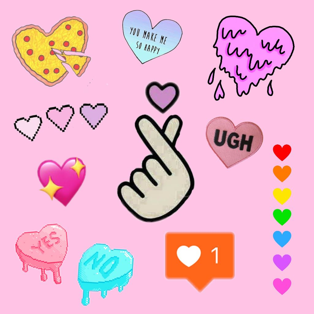 cute heart stickers on picsart