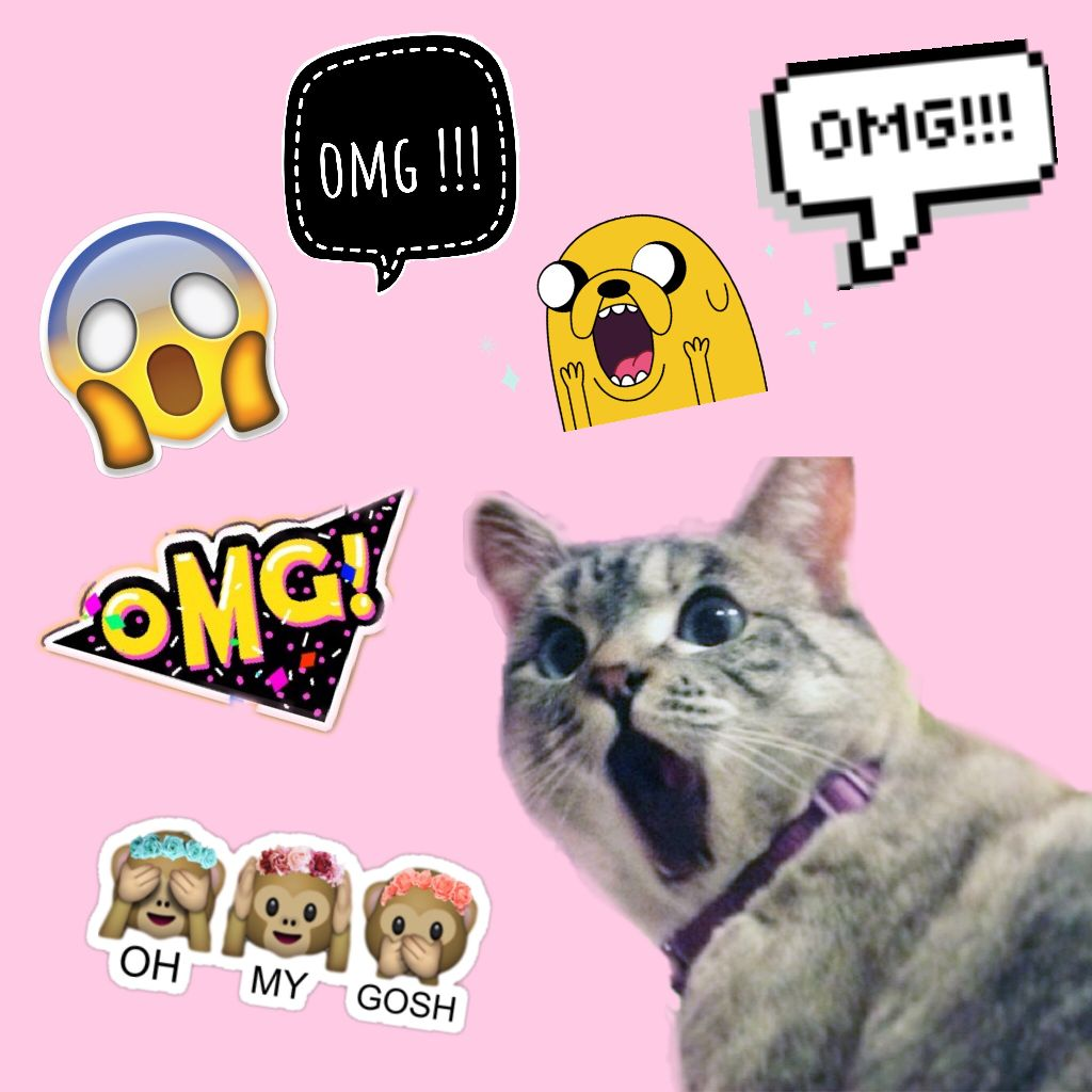 free OMG stickers on picsart