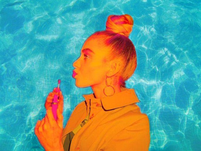 Fake and Flawless Poolside Selfie
