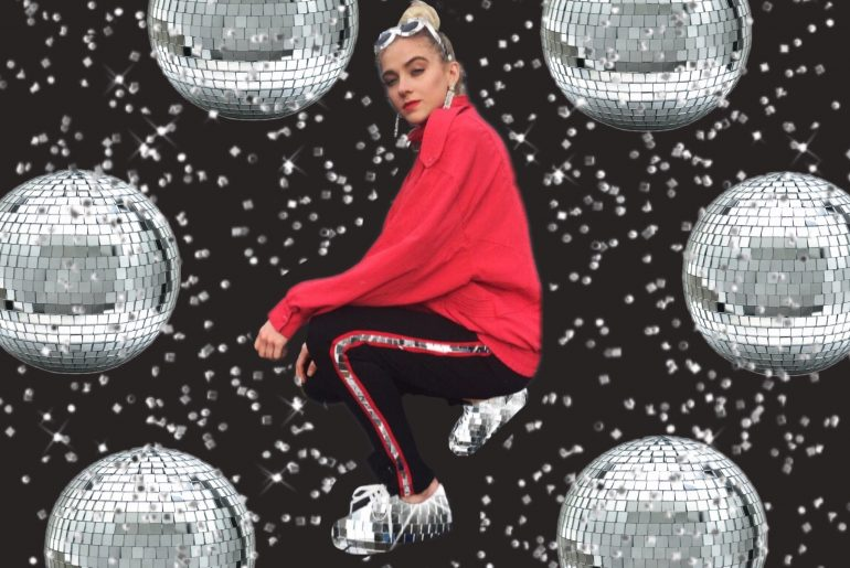 """#DiscoQueen edit with """"discoball"""" stickers"""