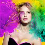 Natalia Vodianova with picsart color edit