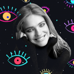 Natalia Vodianova clipart sticker eye edit