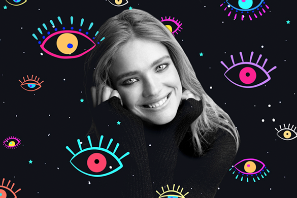 Natalia Vodianova clipart sticker eye edit
